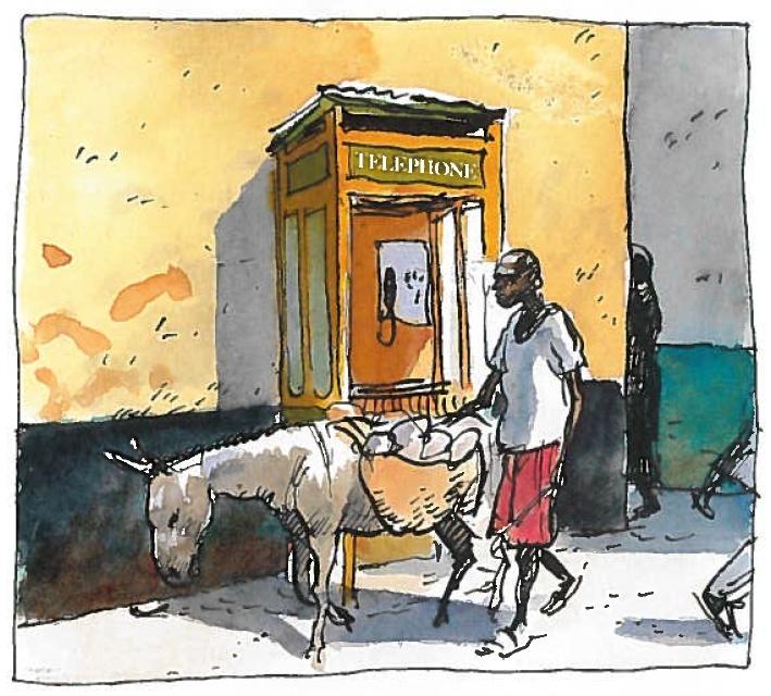 Band 1, Seite 80. Esel statt Autos. Zum Transport von Waren...
