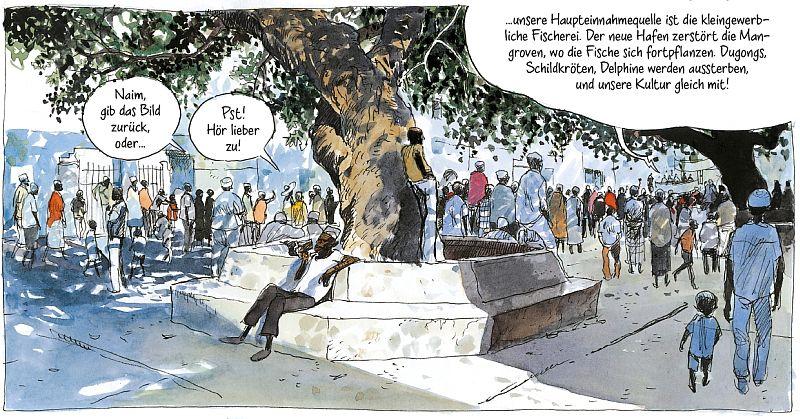 Band 2, Seite 124. Der Mkunguni Square im Zentrum.