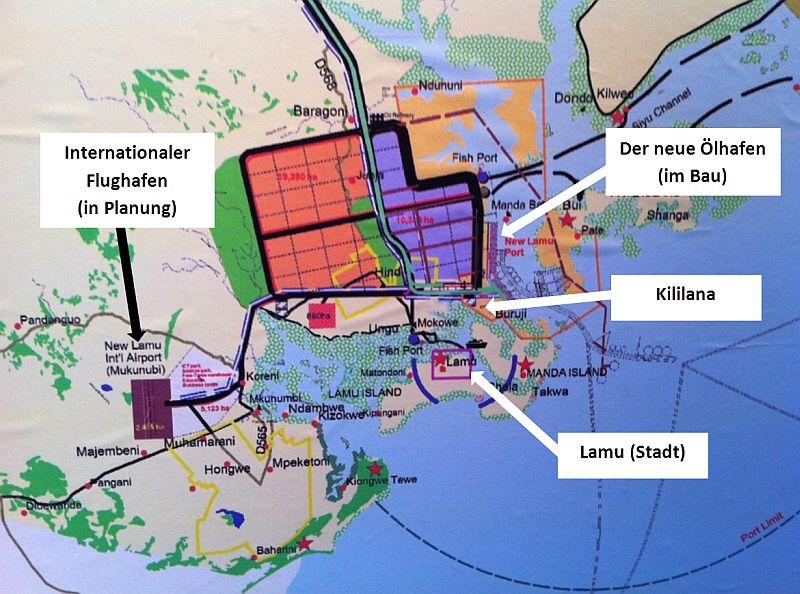 Alles verplant: das soll aus Lamu und Umgebung werden.