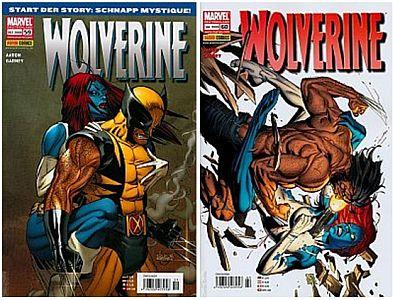 Auf Deutsch: die beiden Panini-Hefte Wolverine 59+60