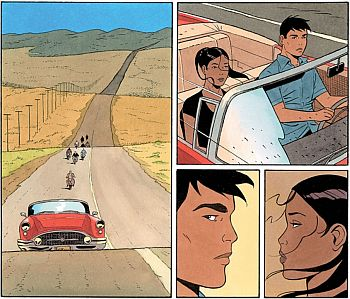 Klare Linie: Joaquin und Livia auf der Flucht