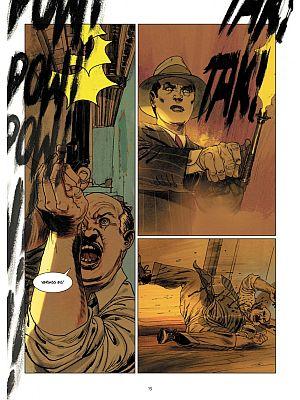 Kino im Comic: Seite aus Querschläger
