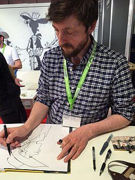 Matthieu Bonhomme zeichnet Lucky Luke