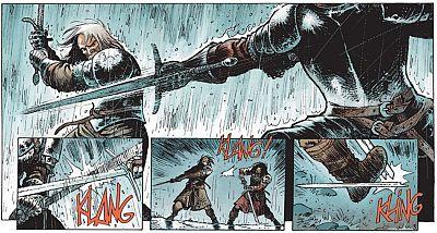 Duell im Regen: Hans gegen Maleztraza