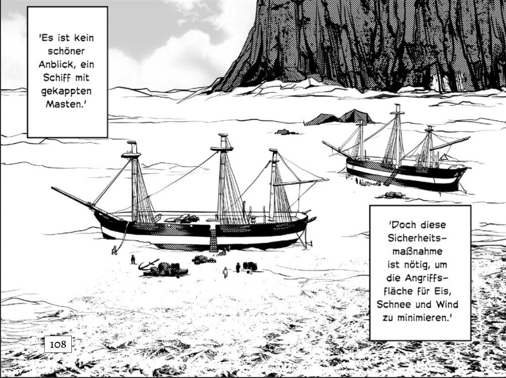 Die Schiffe bei der ersten Überwinterung